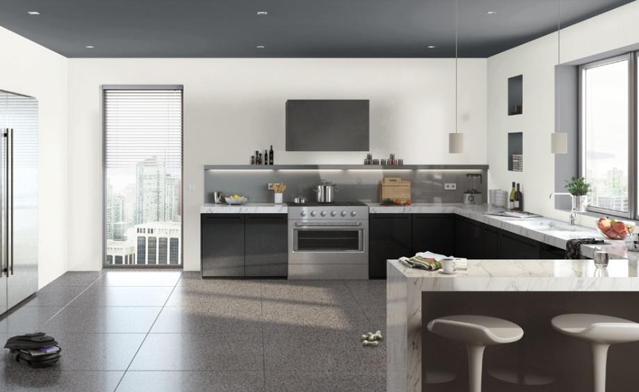 آشپزخانه بدون کابینت فوقانی