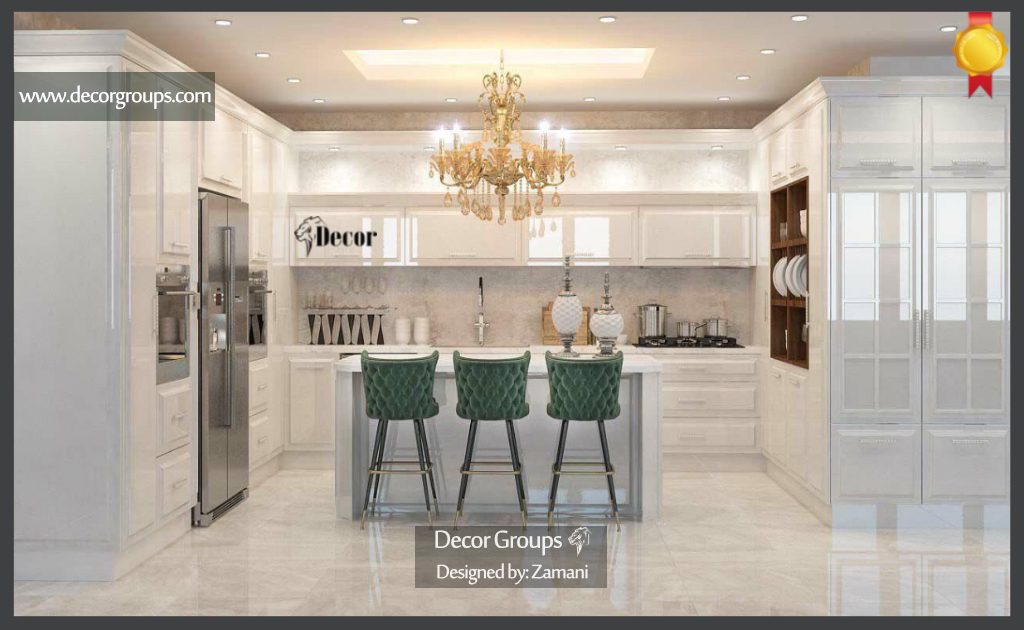 طراحی سه بعدی کابینت آشپزخانه