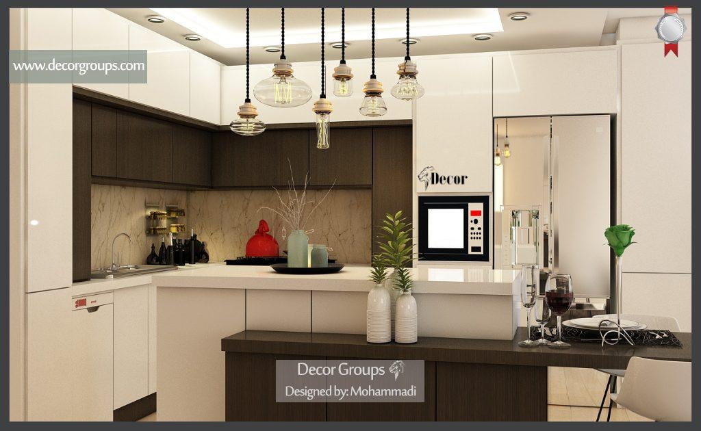 طراحی سه بعدی آشپزخانه مدرن