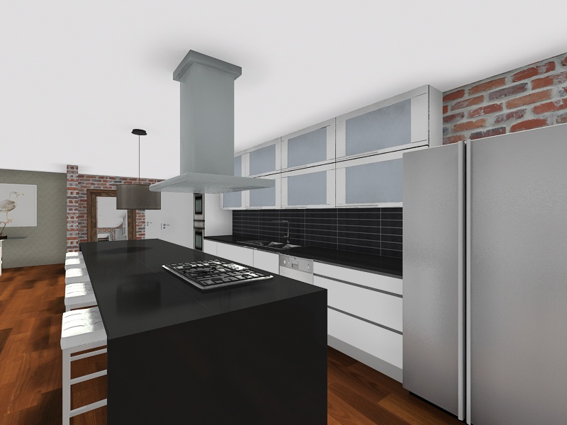 طراحی آشپزخانه سه بعدی