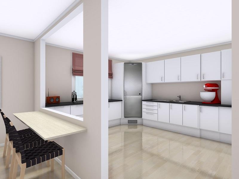 آشپزخانه خلوت