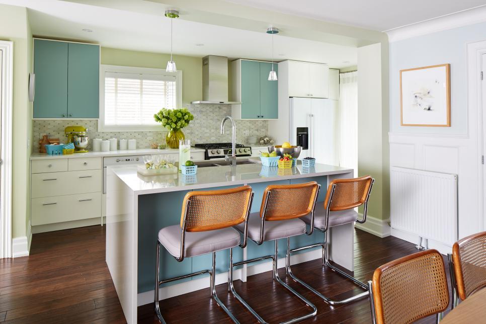 رنگی کردن آشپزخانه سفید