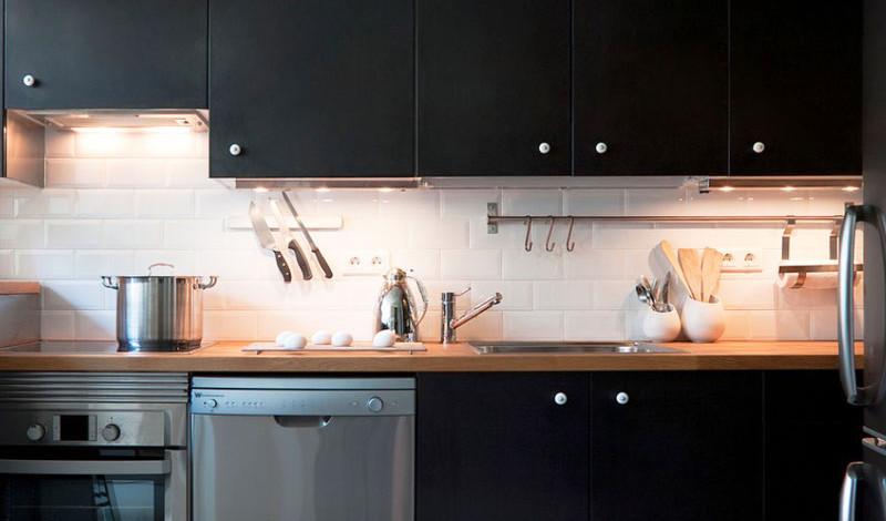روشن کردن آشپزخانه کوچک